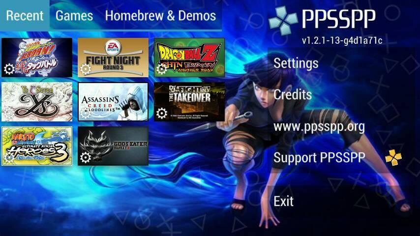 PPSSPP Black Mod Apk (Change Background) Free Download