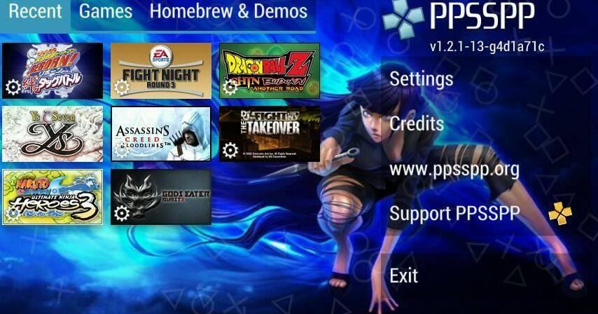 PPSSPP Black Mod Apk Change Background Free Download