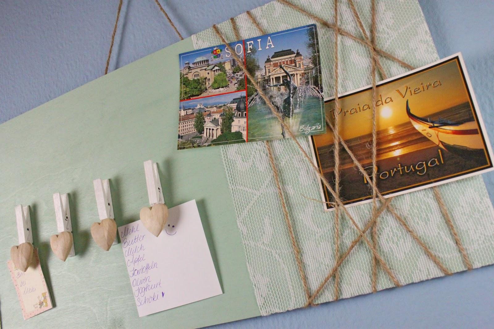 diy deko f r die wand memoboard selber machen jamblog. Black Bedroom Furniture Sets. Home Design Ideas
