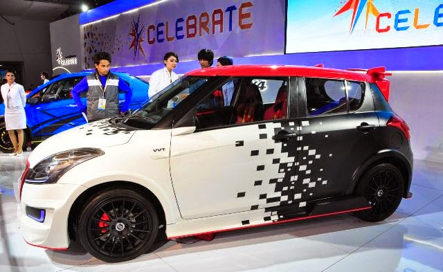 Foto Modifikasi Mobil Suzuki Swift racing