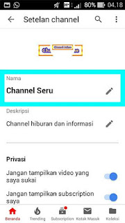 Cara Mengganti Nama Channel Youtube di Android, iOS, PC, Kamputer, Laptop