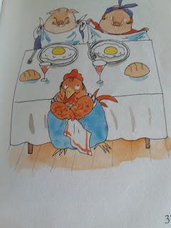 gallina-huevo frito-restaurante