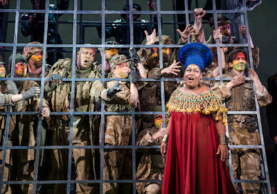 Verdi: Aida - English National Opera - Musa Ngqungwana, Latonia Moore (photo Tristram Kenton)