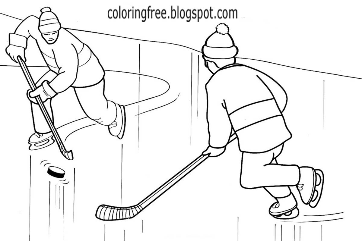 Coloring Coloring Pages Hockey Arena Coloring Pages
