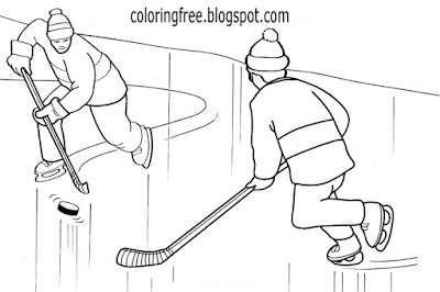 Cool drawing ideas childrens snow sports free winter coloring pages ice hockey game on a frozen lake