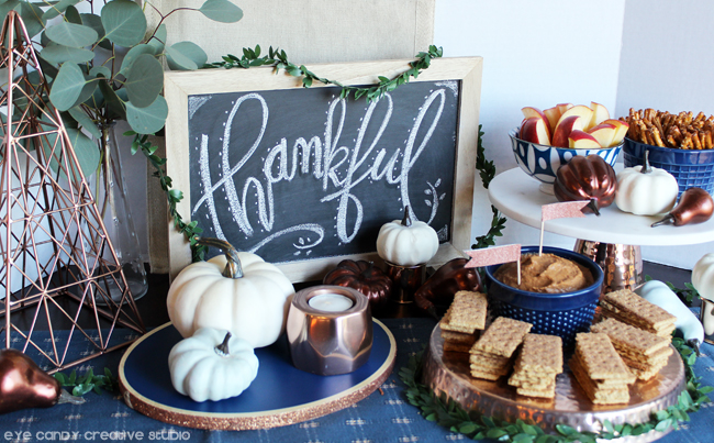 holiday gatherings, pumpkin dip, holiday table, holiday tablescape idea