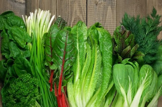 Leafy greens - Treatment for dry eyes