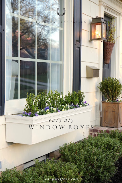 jenny steffens hobick window boxes diy easy flower boxes. Black Bedroom Furniture Sets. Home Design Ideas