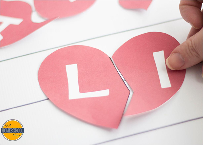 FREE Valentines Day Alphabet Game
