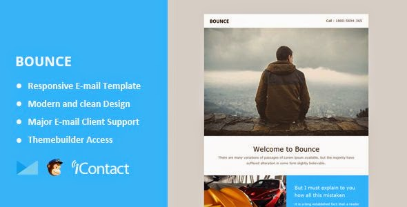 Bounce - Responsive Email + Themebuilder Access