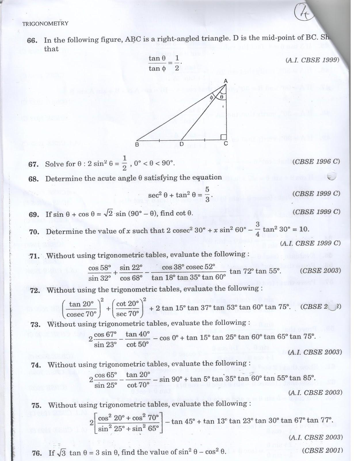 Prajam Math Genius Be A Master In Trigo Class 10