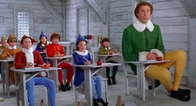 Buddy the Elf doesn't fit in with the other elves at North Pole Elementary School