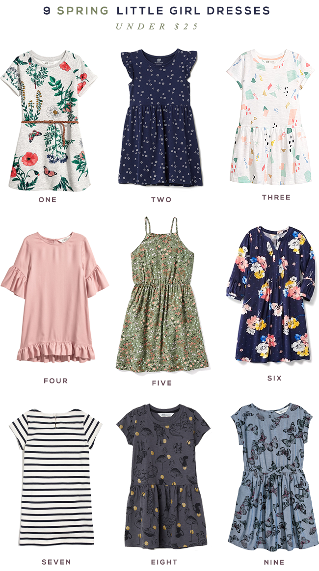 9 Little Girl Spring Dresses Under $  25