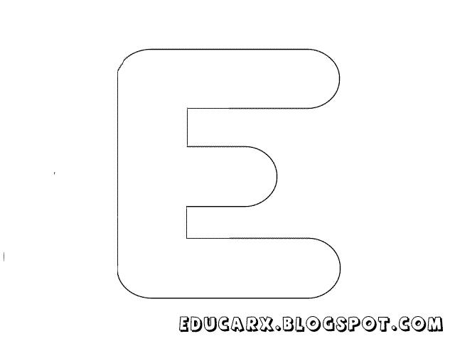 Molde de letras grandes e