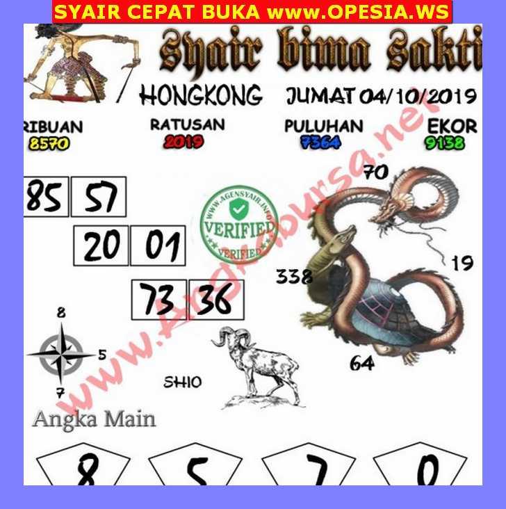 Kode syair Hongkong Jumat 4 Oktober 2019 146