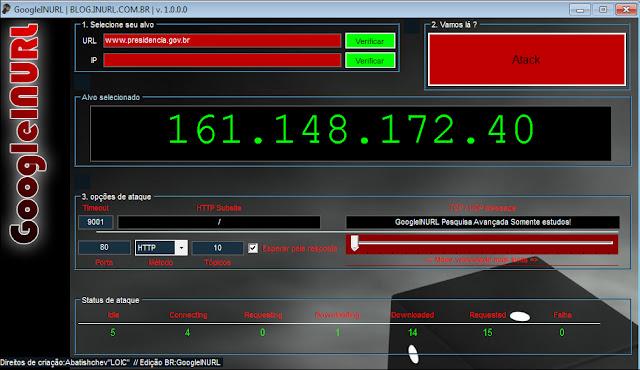 Atack DDOS GOOGLEINURL