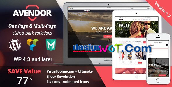 Avendor WordPress Responsive Multi purpose Theme