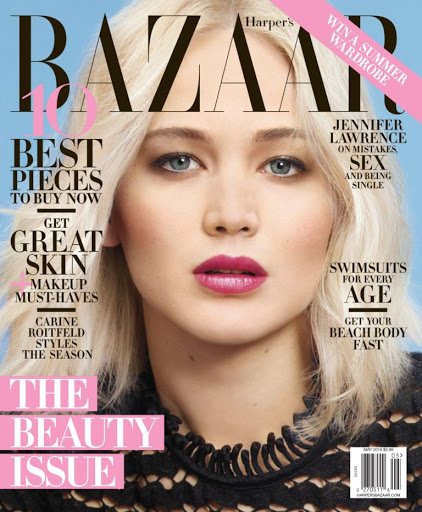 jennifer lawrence sexy models harpers bazaar magazine cover
