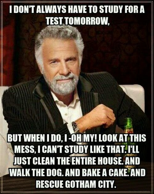 school and procrastination memes