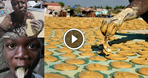 OMG - Haitians Eat Dirt To Survive, Shocking And Viral Video