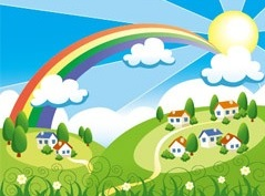 Dibujo de la primavera para niños
