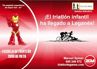 INFORMACIÓN Escuela de Triatlón ZDM en Leganes, para niños de 6 a 12 años