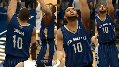 NBA 2K13 New Orleans Pelicans Away Jersey Mod