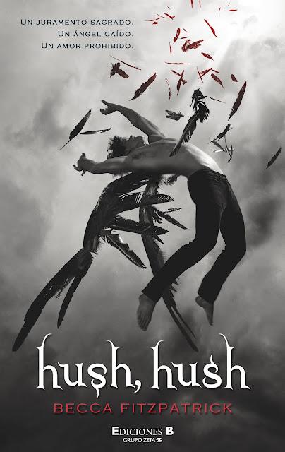 Portada hush hush libro romántico paranormal Becca Fitzpartick