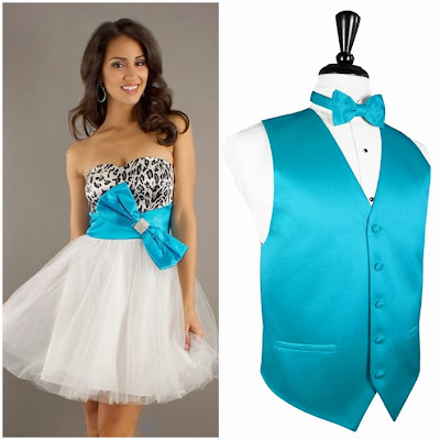 Quinceanera Chambelanes Outfits Turquoise & Snow L...