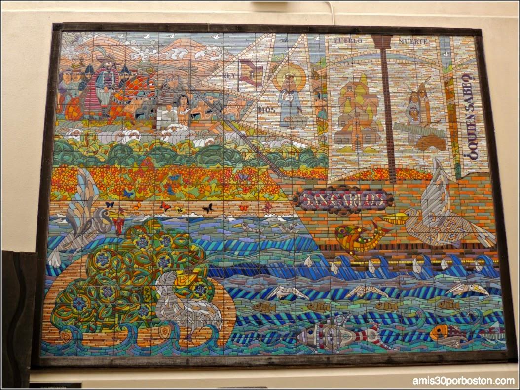 Mosaicos de Guillermo Granizo en la Misión Dolores, San Francisco