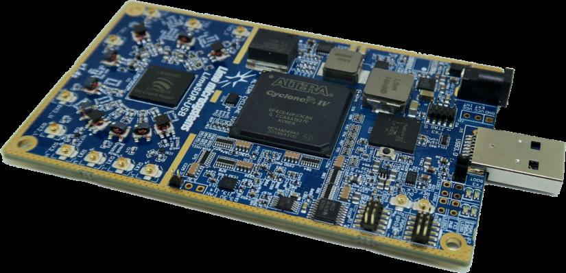 LimeSDR running DATV Express DVB-S TX software