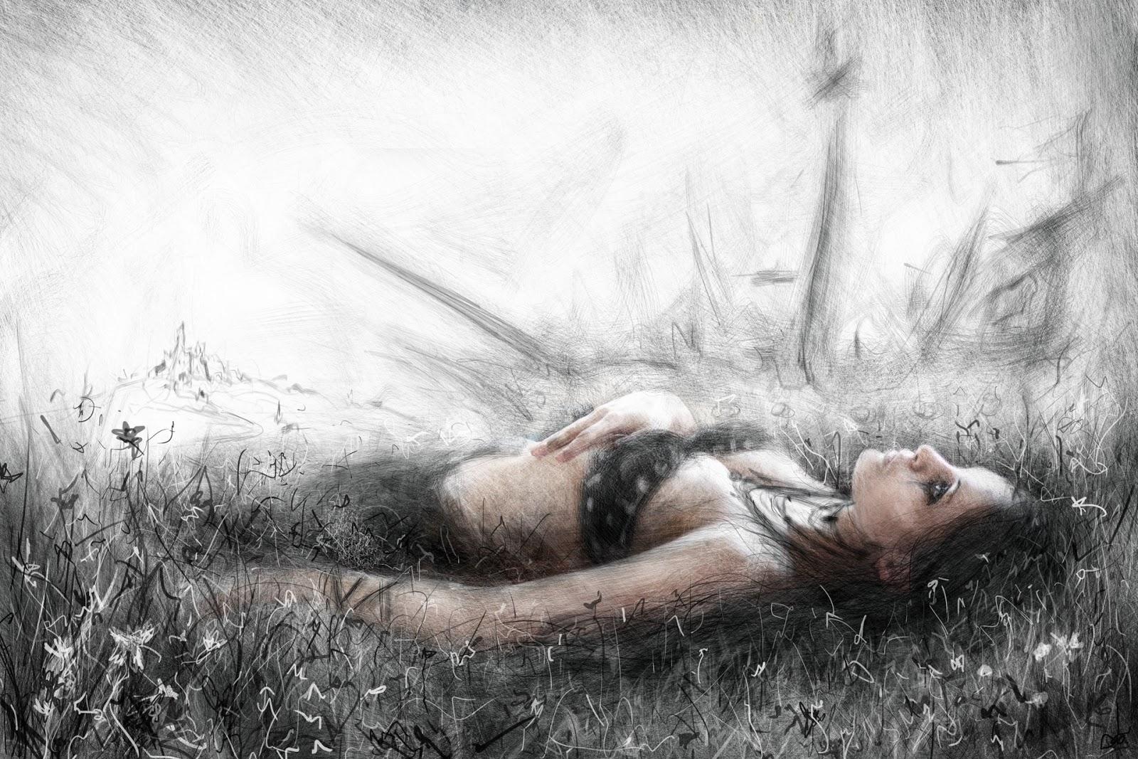 Gothic fantasy portrait painting