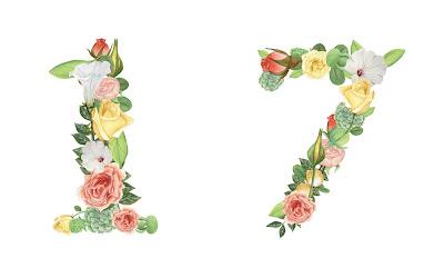 A floral number 17