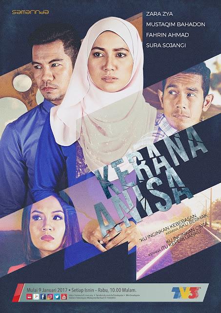 Kerana Anisa Drama Lakonan Zara Zya, Mustaqim Bahadon, Fahrin Ahmad
