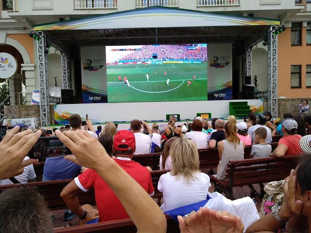 горный парк футбола Роза Хутор 2018, Сочи, Красная поляна