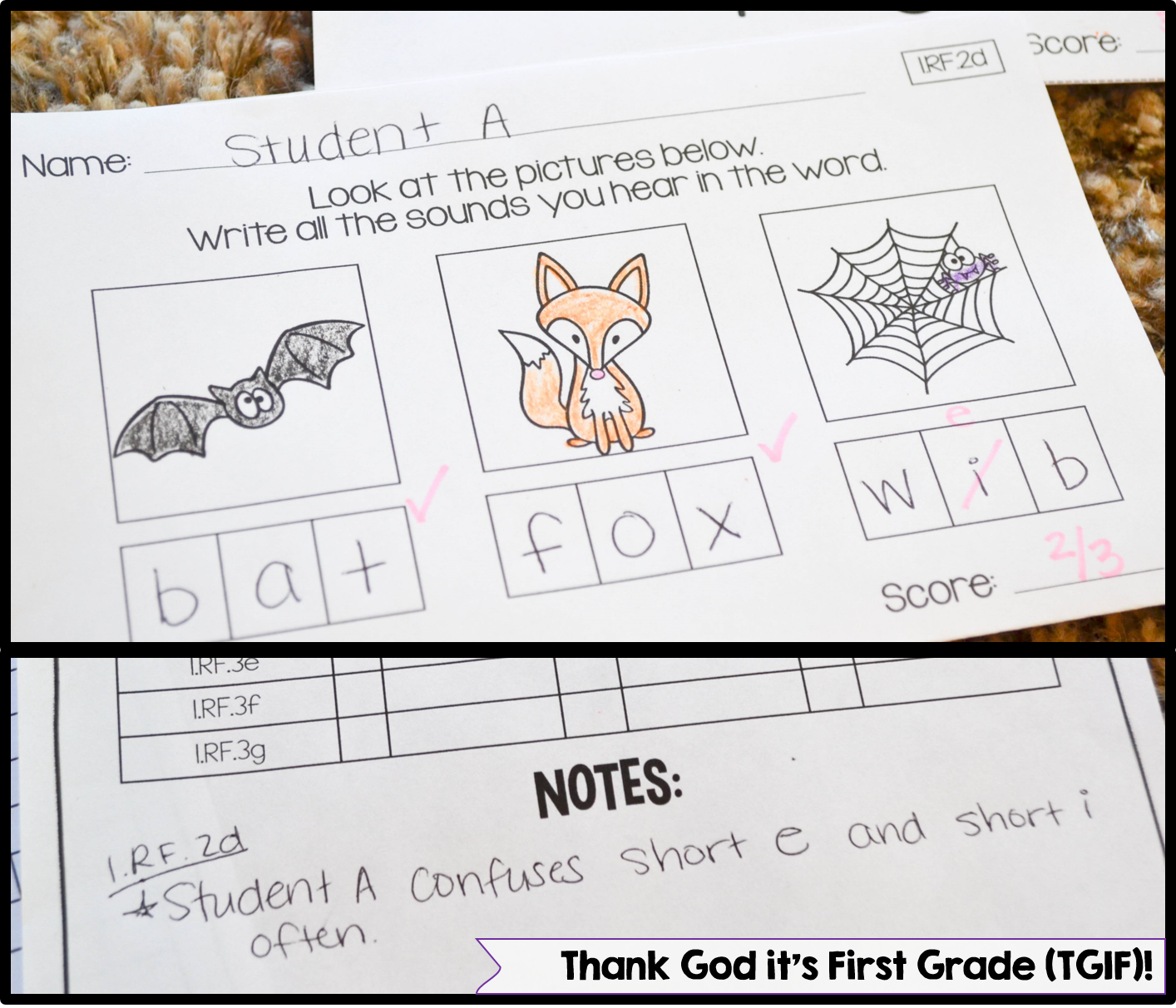 Worksheet Phonics Assessments quick common core assessments for 1st grade thank god its this unit includes all of the phonics standards rf 1 2 and 3 with subsets under those commo