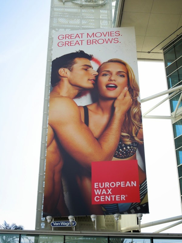European Wax Center Great movies Great brows billboard