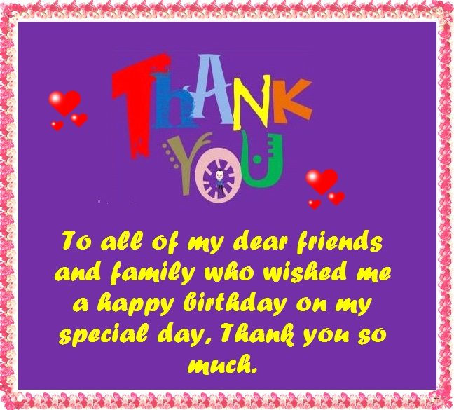 Thanks for the birthday wishes notes and quotes how to thank friends on facebook for birthday wishes m4hsunfo Images