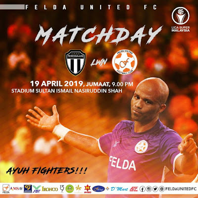 Live Streaming Terengganu FC vs Felda United Liga Super 19.4.2019