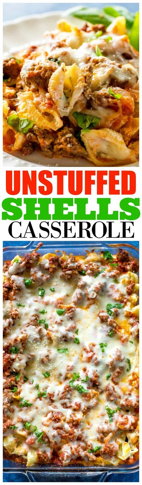 Unstuffed Shells Casserole