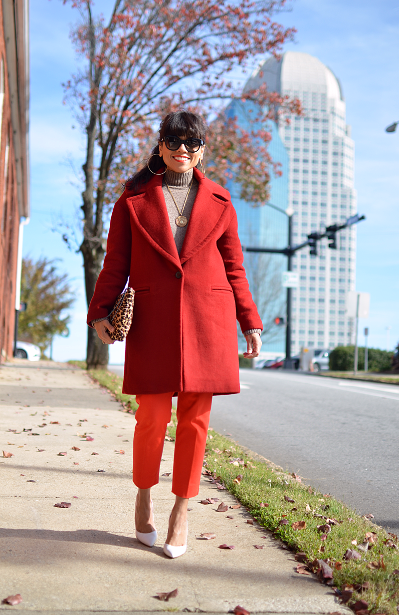 Orange with red street style