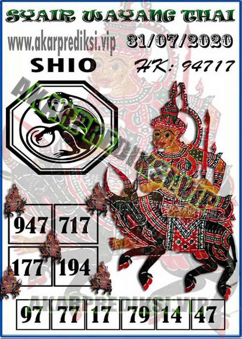 Kode syair Hongkong Jumat 31 Juli 2020 277