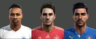 Faces: 1. Clyne 2. Koke 3.Pelle, PES 2013