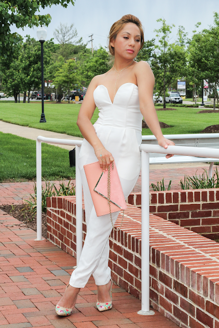 Ivory Sweetheart Jumpsuit