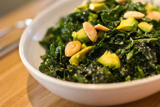 eating fabulously, christopher stewart, raw kale salad