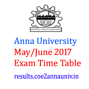 ANNA UNIVERSITY EXAM TIME TABLE 2018 | **All Reg**