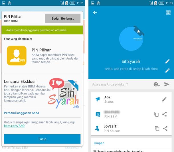 mengembalikan PIN lama BBM di Android
