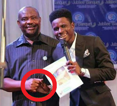 Governor Wike Suspicious Handshake Photo With This Guy Goes Viral