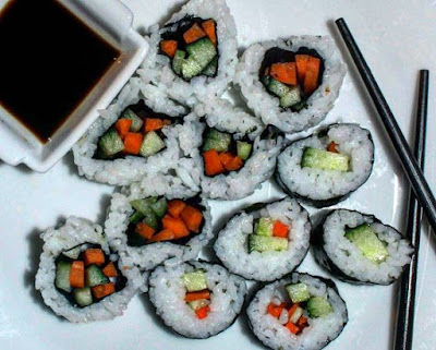 Vegan Homemade Sushi