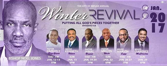 church announcement bishop noel jones winter revival